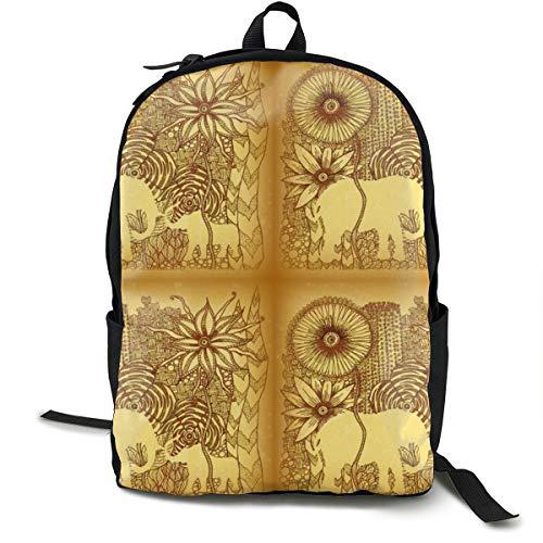 Klassischer Rucksack, Gartenwunder, Kalahari, lässige Schultasche, große Kapazität, Laptop-Tasche für Teenager, Damen, Herren, Reisen, Wandern
