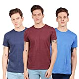 Scott International Men's Basic Cotton Round Neck Half Sleeve Solid T-Shirts -Pack of