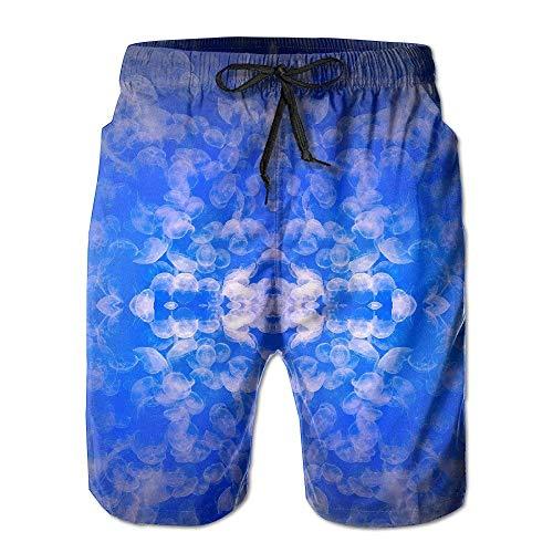 GOSMAO Los bañadores de Hombre Jellyfish Are So Fricken Shorts de Playa con ventilación Ultraligera de Secado rápido y Fresco