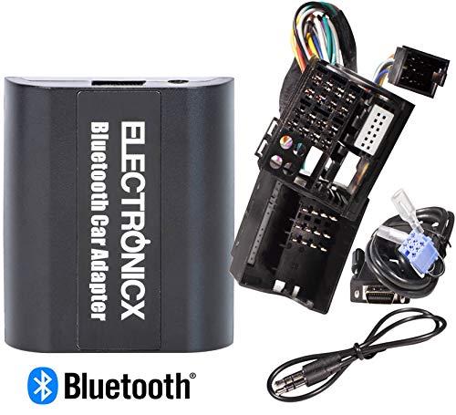Electronicx Adaptador de Radio para Coche Auto Carro Manos Libres Bluetooth Controlador de Radio Desde el Volante AUX MP3 CD Renault Megane 3 Scenic 3 Traffic