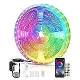 Voneta striscia di luci a LED, telecomando Bluetooth e controllo APP di luci a LED, cambia colore 5050 RGB, per camera da letto, decorazione domestica, feste (10M)