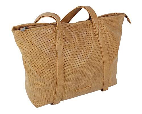 Elegante bolso de mano para mujer, bolso de la compra con 2 asas, bolso grande en 3 colores (3448)