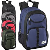 Case Pack Of 24 18 Inch Multipocket Backpacks in Bulk - Wholesale School Backpacks with Padding (Boys 5 Color Assortment)