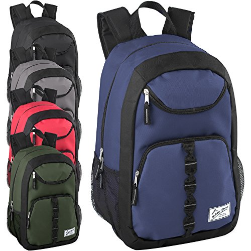 Case Pack Of 24 18 Inch Multipocket Backpacks in Bulk - Wholesale School Backpacks with Padding (Girls 4 Color Assortment)