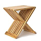 Deliano Design Beistelltisch Klapptisch Kautschuk Holz 40x43cm klappbar Balkontisch Holztisch Gartentisch Garten Sofa Bett Couch