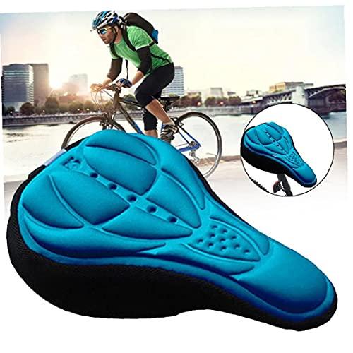 Asiento de la bicicleta fundas de colchón, confortable sílice y relleno con espuma de bicicletas Silla Cojín de Spin bicicletas estáticas, bicicletas carretera de montaña, ciclo al aire