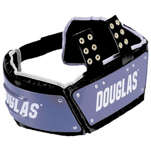 Douglas CP Series Football Rib Combo Protector with Plastic - Black 4 Inches