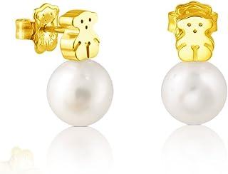 comprar comparacion Pendientes TOUS Sweet Dolls en oro amarillo de 18 kt y perlas cultivadas de 0,95 cm