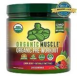 ORGANIC MUSCLE #1 Rated Organic Pre Workout Powder-Natural Vegan Keto Pre-Workout & Organic Energy...
