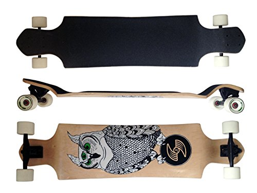 MAXOfit Deluxe Longboard GeoLines Bambou No.96, Drop Through, 96.5 cm, ABEC11 (64296)