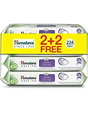 Himalaya Sensitive Baby Wipes Alcohol & Paraben Free with the Goodness of Aloe Vera and Cucumber Cleanses Your Baby's Delicate & Extra Sensitive Skin -224 Wipes.