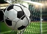 Tischsets I Platzsets -Tor! Fussball im Netz - 12 Stück in Hochwertiger Aufbewahrungsmappe