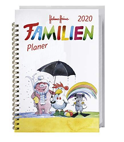 Helme Heine Familienplaner Buch A5 - Heye-Kalender 2020 - Familienkalender für 5 Personen - Schulferien und Stundenplänen - 15,2 cm x 23,2 cm