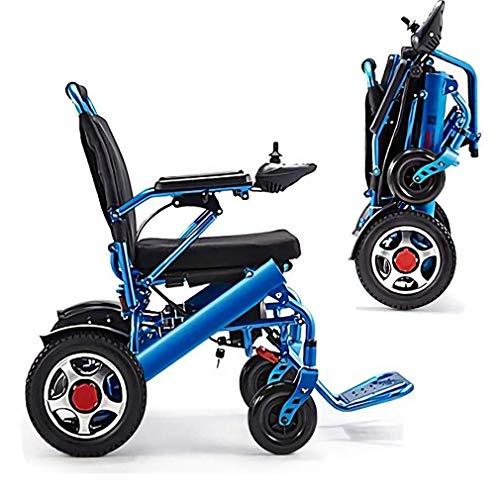 Yeeseu Silla de ruedas eléctrica plegable eléctrica eléctrica sillas de ruedas aleación de aluminio eléctrico plegable luz de plegable un botón plegable elegante silla de ruedas fdh
