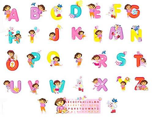 WAY2BB - Stickers mural chambre enfant ou bébé Alphabet (Dora l'exploratrice)