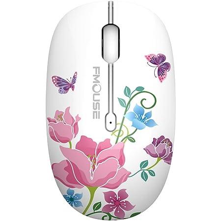 tenmos M101 ratón inalámbrico 2,4 G Cute Silent ratón óptico de Viaje con USB Receptor para portátil/PC/portátil/ordenado,dpi 1600,3 Botones