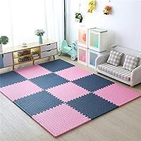赤ちゃんのジョイントマット 、幼児のEVAフォームプレイパズルマット子供の遊び場のリビングルームの寝室のジムに適しています-完璧な家の装飾,Pink+dark blue,6