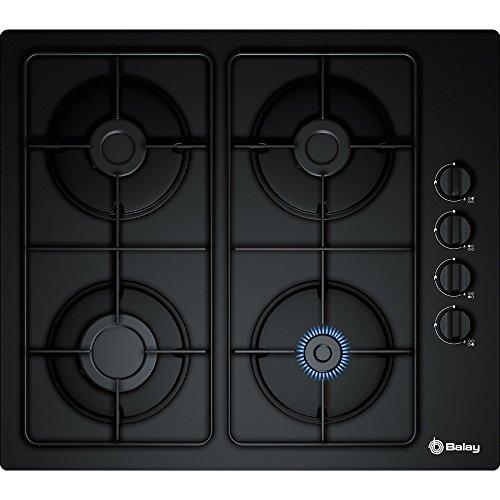 Balay 3etg464mb Plaque – Plaque (intégré, gaz, noir, rotatif, le haut à la droite, 52 cm)