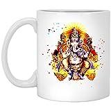 Yoga S Spiritual Hindu God Ganesha Meditation 11 oz. White Mug