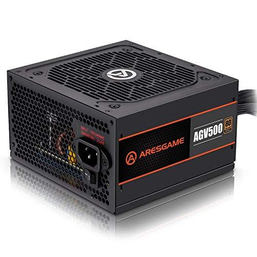 ARESGAME AGV 500 W 80+ Bronze Certified ATX Power Supply