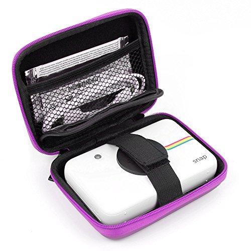 DURAGADGET Funda Rígida Rosa para Cámara Digital Polaroid Snap Touch - con Mini Mosquetón