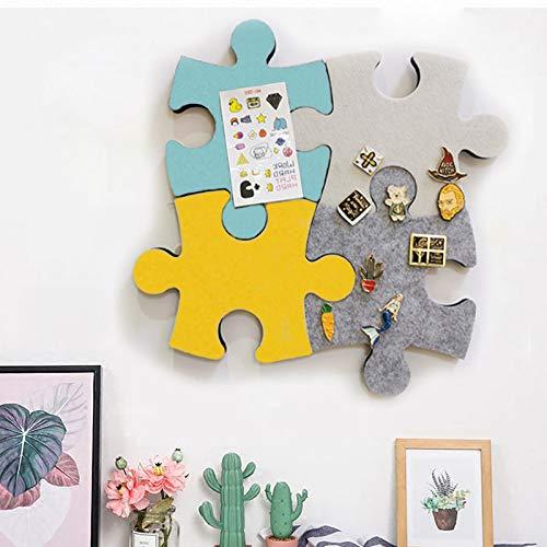Tablón de corcho con forma de rompecabezas, tablero de anuncios de fieltro, con autoadhesivo, para guardar recuerdos, fotos, fotos, notas, etc
