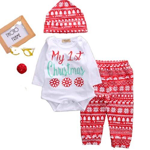 Anigood, set da 4 pezzi per neonato, per il primo Natale multicolore 0-3 mesi