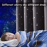 PONY DANCE Vorhang Kinderzimmer Junge - 2 Stücke H 160 x B 132 cm Kinderzimmer Gardinen mit Ösen Kinder Gardinen Junge Verdunkelungsvorhang Sterne Vorhänge Grau - 3
