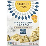Simple Mills Almond Flour Crackers, Fine Ground Sea Salt, 4.25 oz (PACKAGING MAY VARY)