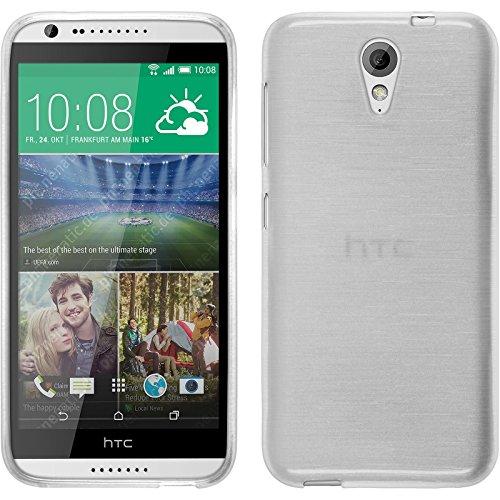 PhoneNatic Funda de Silicona Compatible con HTC Desire 620 - Brushed Blanco -...
