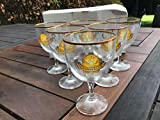 Grimbergen - Set di 6 bicchieri da birra, 15 cl, bordo dorato