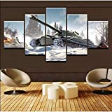 YTCCYBZ HD 5 Canvas Paintings Abstract Painting Wall Art Pictures Home Decoration Photo 5 Pieces...