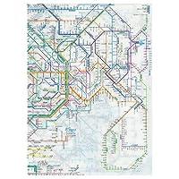 東京カートグラフィック 鉄道路線図 クリアファイル 首都圏日本語 × 5 セット RFSJ