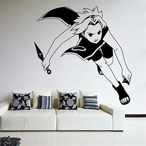 Tianpengyuanshuai Cartoon Wand Vinyl Aufkleber Aufkleber Anime Ninja Kindergarten Kinderzimmer Wandaufkleber 59X58cm