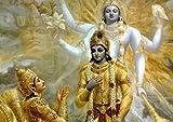 Lord Krishna Radha Poster A3 Beautiful India Hindu Indian Print Wall Art Image Oriental Art Picture Painting