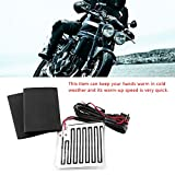 EBTOOLS 12V Winter Heated Grip Pads Inserts Handlebar Hand Warmers Fits Universal Grip ATV Motorcycle