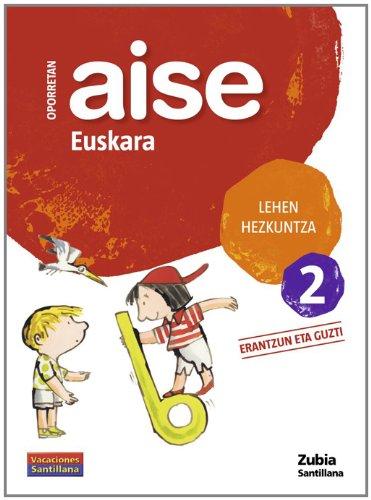 Aise Euskara Lehen Hezkuntza 2 Erantzun Eta Guzti Zubia - 9788498940350