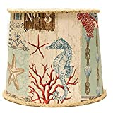 AHS Lighting SD1468-18PE Nautical Patchwork Empire Lamp Shade with Uno, 18'