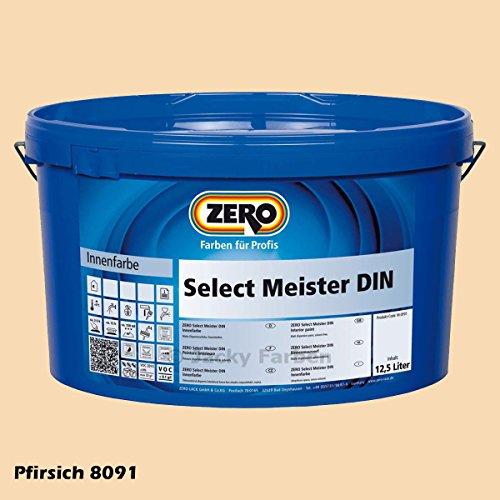 ZERO Select Meister DIN 12,5 L Profi Wandfarbe Innenfarbe, Pfirsich