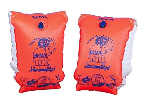 Happy People BEMA® Original Schwimmflügel, orange, Größe 0, 11-30 kg, 1-6 Jahre (4er Spar-Pack)