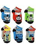 Thomas the Train & Friends Boys 6 pack Socks (Small (4-6), Thomas Grey/Multi)