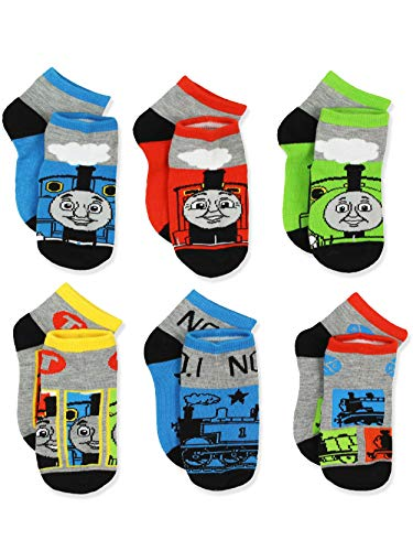 Thomas Train Boys 6 pack Socks (Shoe: 7-10 (Sock: 4-6), Thomas Grey/Multi)