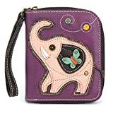 Chala Pal Zipper Wallet Collection (Elephant- Purple), Small