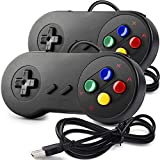 2 Pack SAFFUN SNES Retro USB Controller Gamepad Joystick, USB PC Super Classic Controller Joypad Gamestick for Windows PC MAC Linux Raspberry Pi 3 Sega Genesis Higan