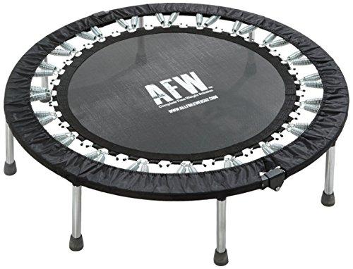 AFW 106012 106012-Trampolín Profesional Plegable, 112 cm de diámetro, Color Negro, Talla M, Hombres, U