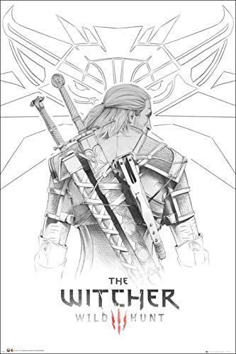 Close Up Póster The Witcher 3: Wild Hunt - Geralt Sketch (61cm x 91,5cm)