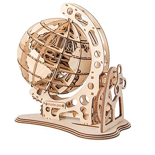 Ladrillo de juguete Rompecabezas en tres dimensiones   giratoria del globo 3D láser de corte de madera juego de puzzle Montaje juguete de regalo for niños, adolescentes y adultos Regalo de juguetes ed