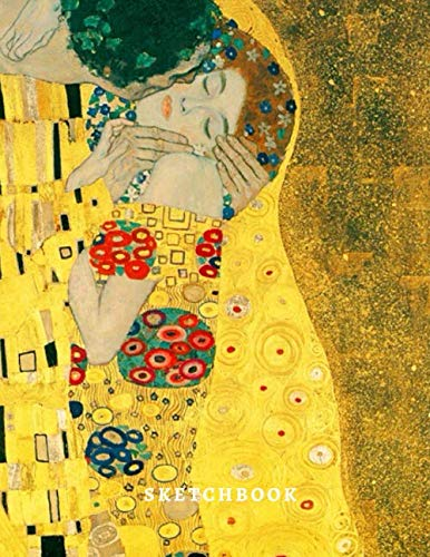 Sketchbook: Gustav Klimt Kiss Sketchbook for women