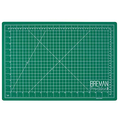 Breman Precision Self Healing Cutting Mat - A3 12x18 inches Sewing Craft Quilting Fabric Rotary Cutting Mat - Perfect for Crafters Hobbyists and Artists - 2 Sided 5 Ply PVC Craft Mat with Grid Lines
