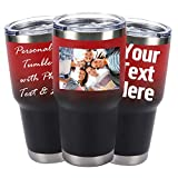 Personalized Photo Tumblers 30 oz Stainless Steel...